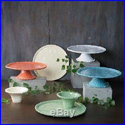 NEW Beatriz Ball 2444 Alegria Pedestal Cake Plate, Green FREE2DAYSHIP TAXFREE