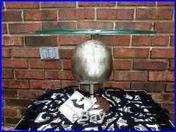 New Hallows Eve Heavy Silver Metal Skull Cake Stand Pedestal Plate Halloween