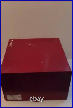 NEW ORREFORS INTERMEZZO BLUE DROP CRYSTAL PEDESTAL LARGE CAKE PLATE SWEDEN withBOX