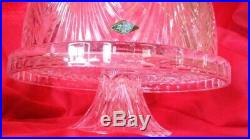 NEW RARE 24% Lead Crystal Domed Round Pedestal Cake Plate 4 in 1 Bowl + Shannon