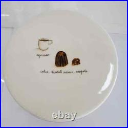 NEW Rae Dunn French Pastry Dessert Cake Stand Plate Pedestal Boutique