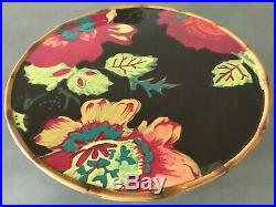 NEW TRACY PORTER Red Yellow Blue Eden Ranch Elephant Pedestal Cake Plate Stand