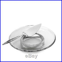 Nambe Braid Pedestal Cake Plate & Server (MT0913)