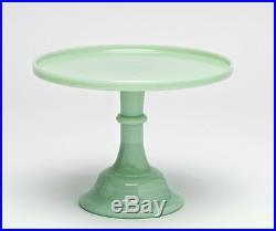New! Jadeite/Jadite Green 10 Pedestal Cake Stand Plate Mosser 24010J