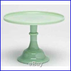 New! Jadeite/Jadite Green 12 Pedestal Cake Stand Plate Mosser 24012J
