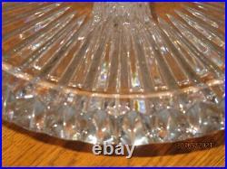 Nib Lead Crystal Crown Jewel 13 Mikasa Pedestal Cake Stand Made In Slovinia