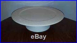 Nora Fleming Pearl Dot 14 Pedestal Cake Platter Plate Retired