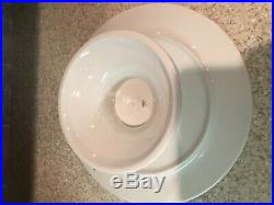 Nora Fleming Pearl Dot C5 14 Pedestal Cake Platter Plate Retired NIB