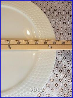 Nora Fleming SWISS DOT 14 Pedestal Cake Platter Plate Rare CHIP