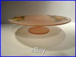 Noritake Larkin Azalea Hand Painted Pedestal Cake Plate