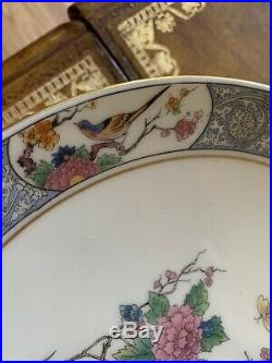 PAIR Lenox MING BIRDS Asian Oriental Footed Cake Plate Vintage Pedestal Stand