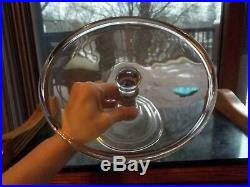 PEDESTAL CAKE STAND Plate Bakery Display SALVER cupcakes EAPG Antique GLASS