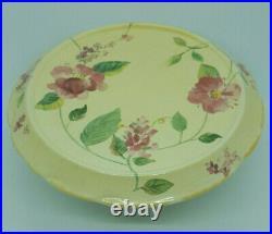 PFALTZGRAFF Silk Rose 7 Pedestal Ivory Cake Stand Plate Pink Floral