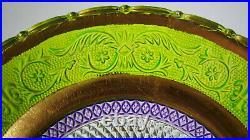 Pedestal Cake Plate Green & Purple, Gold Pedestal Sandwich Rig Maylasia