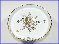 Pedestal Cake Plate Porcelain Rose