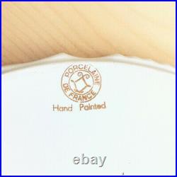 Pedestal Cake Plate Stand PORCELAINE DE FRANCE Blue White Floral