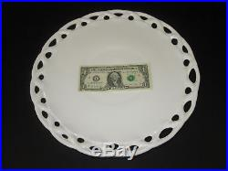 Pedestal Cake Plate White Milk Glass