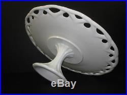 Pedestal Cake Plate White Milk Glass Large
