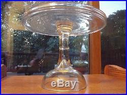 Pedestal Salver Cupcake Cake Stand Plate antique Cooperative Flint Glass c. 1850