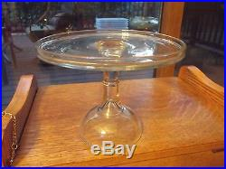 Pedestal Salver Cupcake Cake Stand Plate antique Cooperative Flint Glass c. 1850