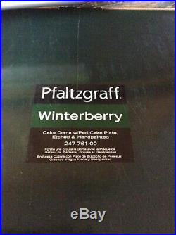 Pfaltzgraff Winterberry Christmas Cake Dome WithPedestal Plate Punch Bowl Hand Pai