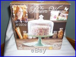 Pioneer Woman Jadeite Cupcake/cake Footed Pedestal 8 Inch Retired Cake Plate