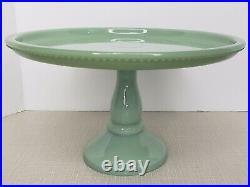 Pioneer Woman Timeless Beauty Jade Green Mini Covered Cake Plate Pedestal