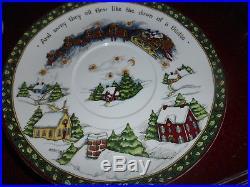 Portmeirion A Christmas Story 2 Tier Stacking Pedestal Cake Plate Server NIB