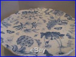 Portmeirion Botanic BlueCake Set(Pedestal Plate 4 Dessert Plates)Decorated Box