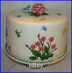 Portmeirion Botanic Garden Covered Dessert Server Cake Plate on Pedestal NWT