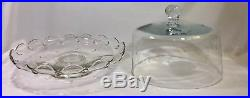 Princess House 11 Pedestal Cake Stand Plate & Dome Domed Lid Heritage #88207851