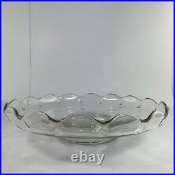 Princess House Crystal Pedestal Cake Plate Dome Cover Heritage Pattern Vintage