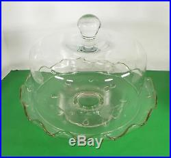 Princess House HERITAGE Pedestal Cake Plate Stand and Dome