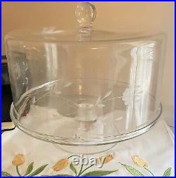 Princess House Heritage Cake Dome & Pedestal Plate 11 x 9 Never Used