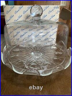 Princess House Heritage Pedestal Domed Cake Plate #076