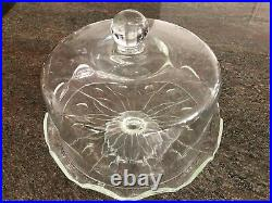 Princess House Two Piece Heritage Pedestal With Domed Cake Plate