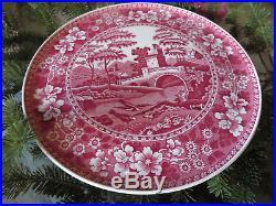 RARE Estate Find Spode Pink Tower Old Mark Pedestal Cake Plate 12 x 3
