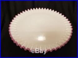RARE Fenton Apple Blossom Crest 7213AB Pedestal Cake Plate 1960-1961 Stunning