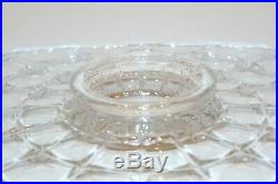 RARE Indiana Glass Constellation Low Footed Pedestal Cake Plate Stand 11 1/2