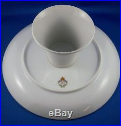 RARE JAPANESE Porcelain PEDESTAL English Scene CAKE STAND Serving Plate VG Aus