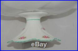 RARE SHELLEY ROSEBUD PEDESTAL CAKE PLATE Serving Stand