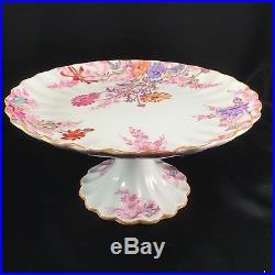 RARE Spode Chelsea Garden Pedestal Cake Plate R9781 Copeland's China 8 1/4