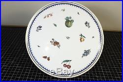 RICHARD GINORI Antico Doccia Italian Fruits Pedestal Cake Stand Plate Dish Italy