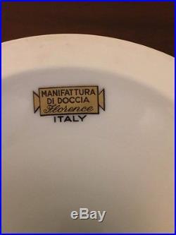 RICHARD GINORI Italy Antico Doccia Italian Fruit Pedestal Cake Stand Plate Dish