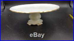 ROYAL ALBERT Bone China VAL D'OR 9 FOOTED CAKE PLATE Perfect Pedestal Dessert