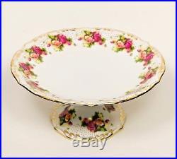 Rare 18th Century ROYAL CHELSEA DERBY Floral Rose Pedestal Cake Plate -England
