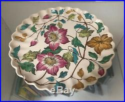 Rare Copeland Old Mark Pedestal Cake Dessert Plate Stand with Pie Crust Edge