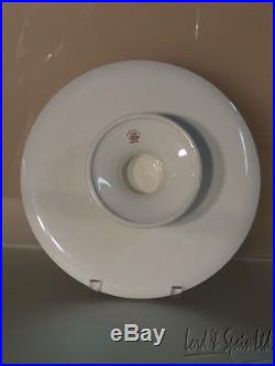 Rare Copeland Spode Brown FLEUR DE LYS or FLEUR DE LIS Pedestal Cake Plate
