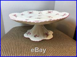 Rare Excellent Shelley Dainty Shape Bridal Rose Footed Pedestal Cake Stand Plate