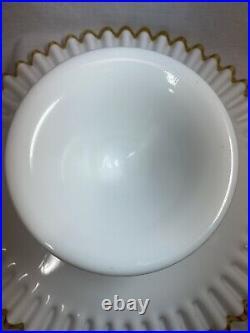 Rare Fenton Gold Crest Milk Glass 13 Pedestal Cake Stand Plate